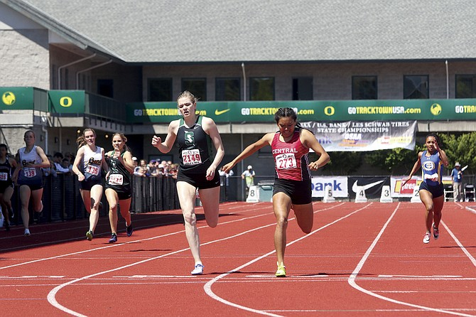 Central junior Bethanie Altamirano placed first in the girls 400-meter run at the OSAA Track and Field State Championships on Saturday.