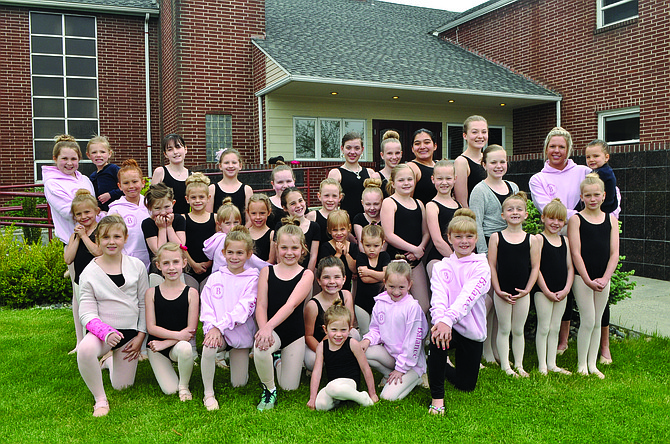 Pictured are members of Ballet Barre' of Idaho County that will be performing a recital this Friday, June 2, 7 p.m., at Grangeville High School. The group will also open new student registrations in July, and plans are to expand dance styles to lyrical, tap and Broadway next fall. For information, contact Jennifer at Balletbarregv@gmail.com .