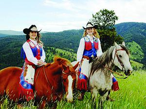 Free Press Photo (L-R) Border Days Princess Micaela Farris and Queen Rachael Stevens.