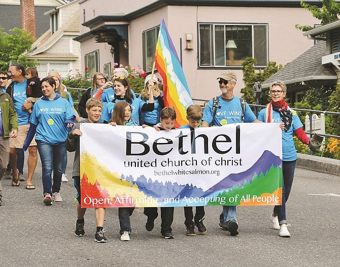 "Open, Affirming, and Accepting of All People"" was the message conveyed by members of White Salmon's Bethel United Church of Christ who marched in last Saturday's inaugural Gorge Pride Parade in Hood River."