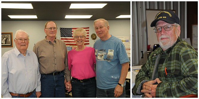 Vietnam veterans (L-R) Earl Marsh, Jim Babb, Connie Workman and Dennis Moore recently met at the IdahoCounty Veterans Outreach and Community Center in Grangeville; (right) Vietnam vet Jerry Baird.