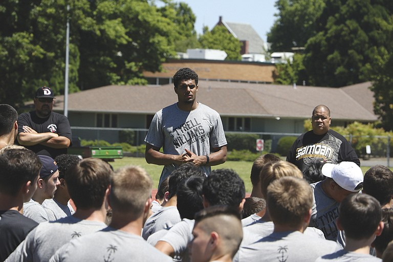 Tyrell Williams, a wide receiver with the Los Angeles Chargers, held an Offensive Skills Camp at Western Oregon University in June.