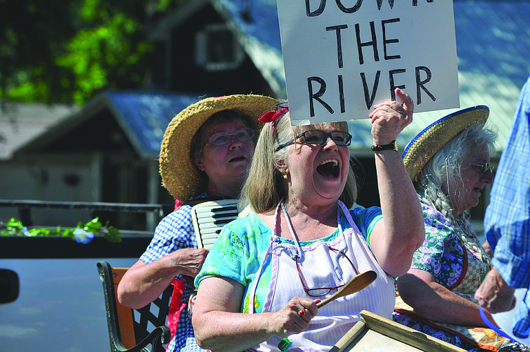Stites Days drew a large crowd for the all-day celebration last Saturday, July 8, that included the Main Street parade and kids' activities at city park. A musical entry in the parade included these enthusiastic members of the Grand Ol' Opry House Granny Band.