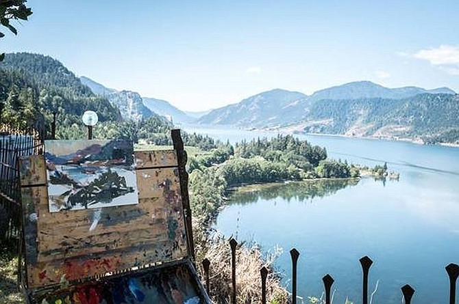 Between July 31 and Aug 3, artists will fan out to paint anywhere in the Columbia River Gorge National Scenic Area; they will also be invited to paint on Maryhill's grounds, giving museum visitors a unique view of plein air artists at work during Maryhill Museum of Art's 13th annual Pacific Northwest Plein Air event. (Submitted photo)
