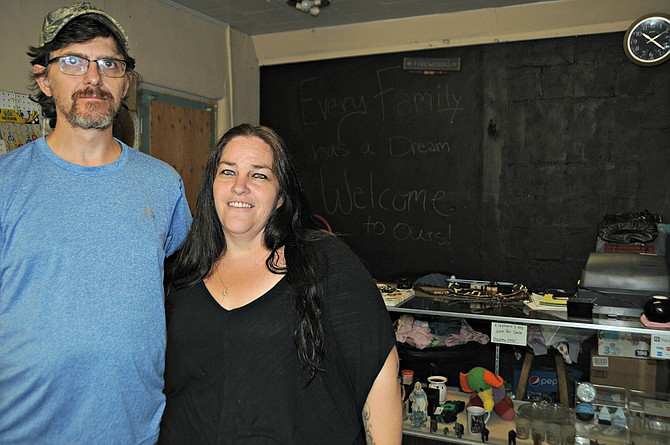 "Craig and Rhonda Clovis recently opened ""Sissy's Thrift."""