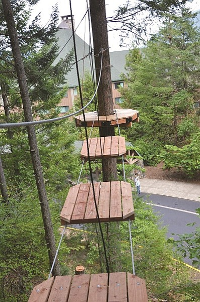 This Aerial Park sits on Skamania Lodge property and boasts an array of aerials, climbing apparatus', platforms and even a canoe to traverse. In all, there are 19 platforms and 22 elements. (Submitted photos)