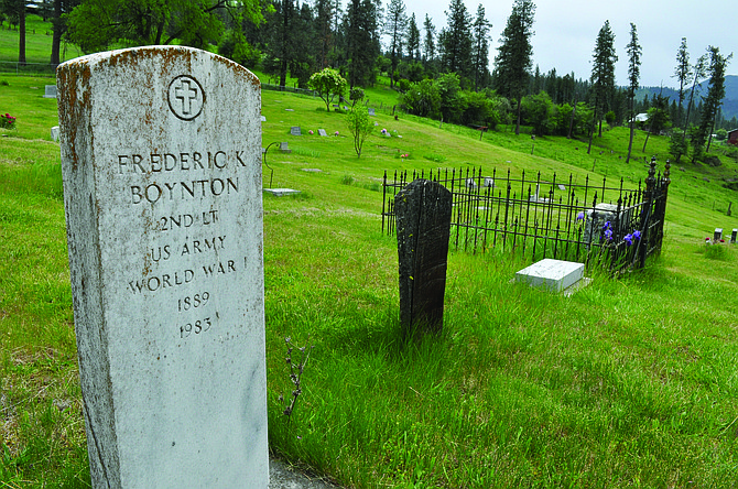 Harpster's off-the-beaten-path cemetery has a variety of old headstones and grave markers.