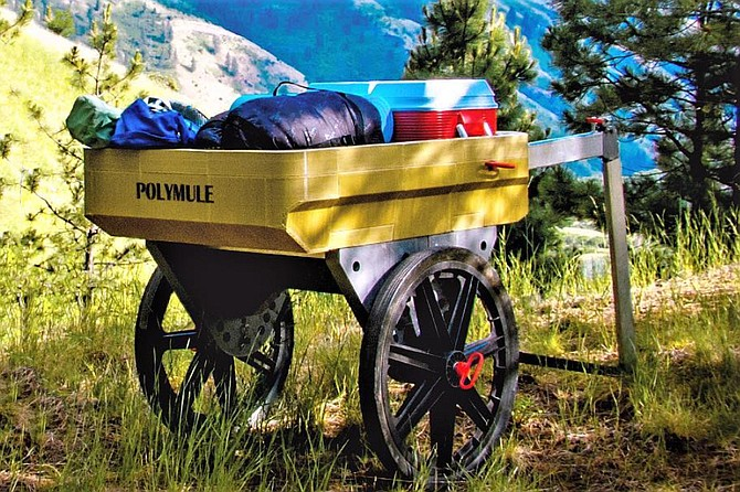 Contributed photo Dennis Draleau's Polymule cart is show here.