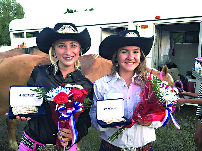 Contributed photo (L-R) Incoming Border Days Princess Bella Klapprich and Queen Micaela Farris.