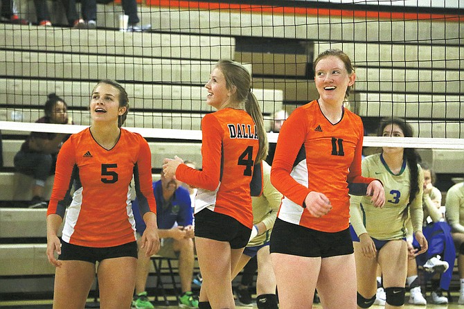 Dallas' volleyball team defeated Central on Sept. 19.