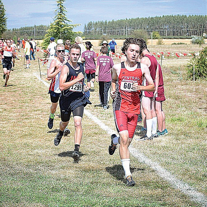 Jonathon Brown placed 10th at the Mid-Willamette Conference Preview Meet.