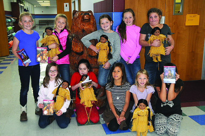 Kamiah Middle School fourth graders were surprised with an American Girl doll Kaya recently in Lapwai.