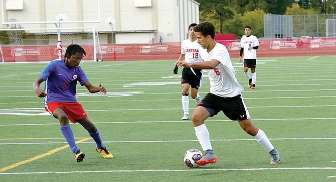 Central senior Evan Hoover advances the ball against Lebanon.