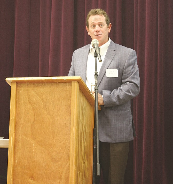 Jason Spadaro, president of SDS Lumber Co., delivered the keynote address for the annual Columbia Gorge Economic Symposium, held last Thursday in Stevenson