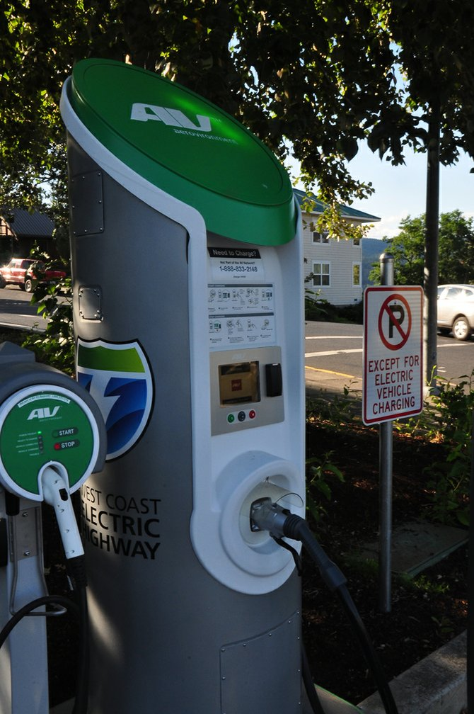 The electric car-charging station at Seventh and Columbia is now ready to go. Users will need an Aerovironment key fob to charge at the station. Call 888-833-2148 for info on how to charge if you are not a part of the subscriber network.