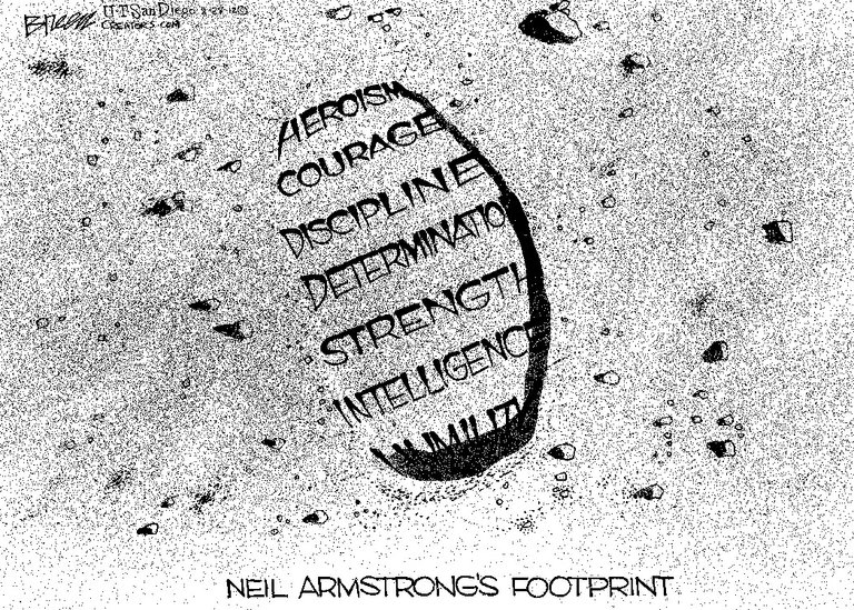 Neil Armstrong's footprint