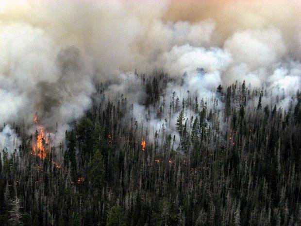 The Pole Creek Fire near Sisters.