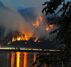The Milepost 66 fire crept through the trees and remained fairly well behaved over night. Light east winds forecast for today will help crews get handle on the fire but will cause another smoky day in Hood River. Stay tuned for updates through the day.