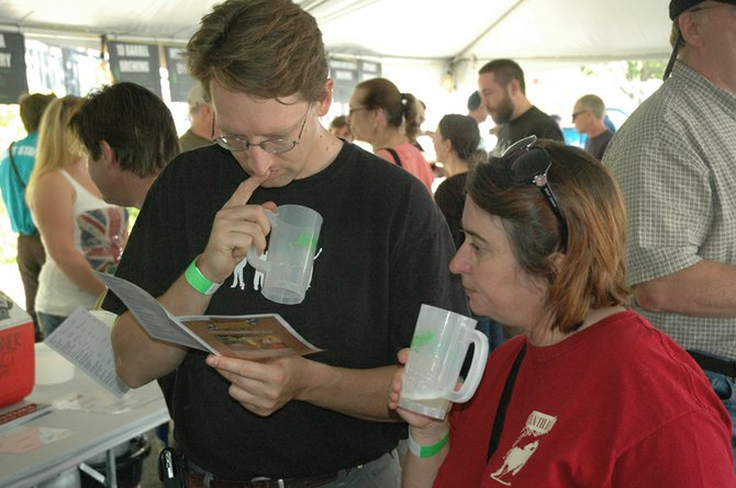 With dozens of beers for sampling, there were some tough decisions to ponder at the annual Hood River Hops Fest.