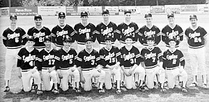 The 1986 Hood River Valley HS baseball team.