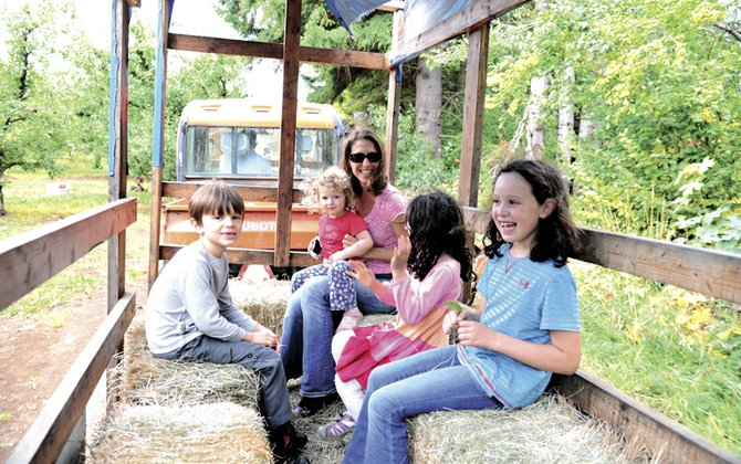 Hayrides and farm tours are part of the fall festivities at Mt. View Orchards in Parkdale.