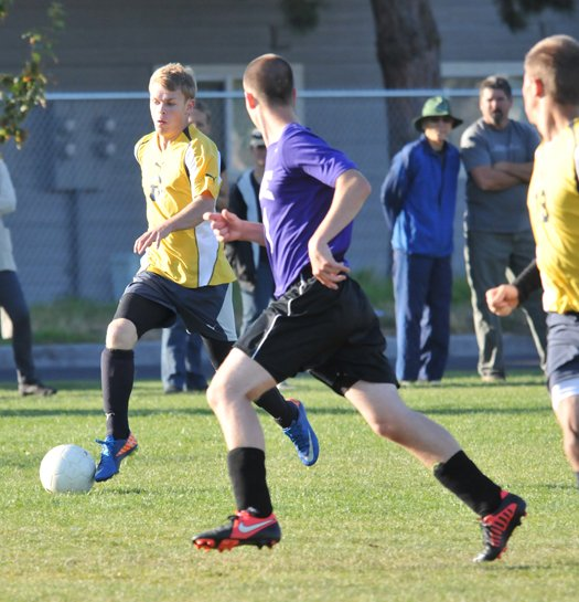 Horizon soccer maintains control of the league's top position.Pictured here is Brice Smith in action earlier this season.