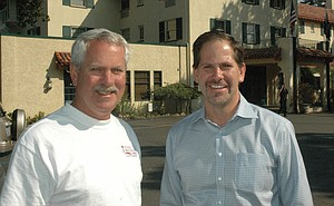 Secretary of State candidate Knute Buehler (right) with State Rep. Mark Johnson.