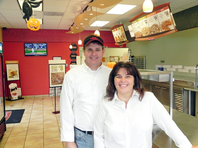 DARRIN the Pizza Guy Lingel and his wife, Debbie, celebrate 12 years of personal success, and 30 for the company, this month in Hood River and The Dalles.