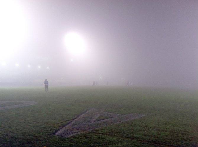 It was so foggy for HRV girls soccer regular season finale vs. The Dalles Wahtonka October 30, 2012, that players could only see half the pitch -- and sometimes less. The Eagles won 3-0 to clinch a share of the Columbia River Conference title.