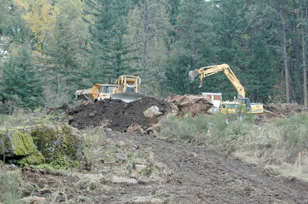 Work underway on the Country Club Road re-alignment.