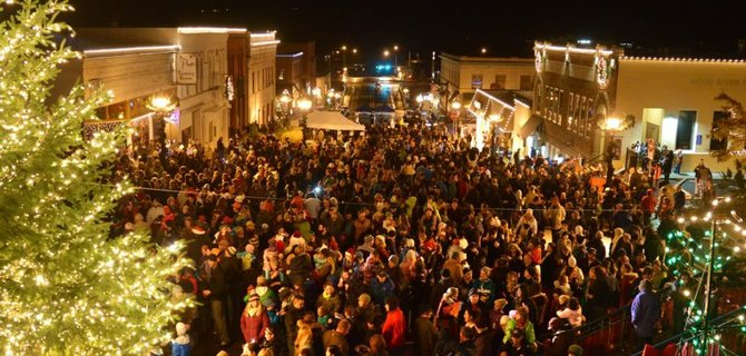 Friday's Christmas parade and tree lighting ceremony brought hundreds to the streets of downtown Hood River to enjoy holiday festivities together.