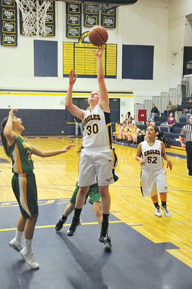Laura Waller scores two of her career high 19 points against Cleveland, Dec. 7, 2012.