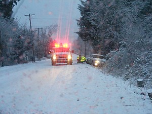 Dec. 19 - 8 a.m. Country Club Road poses ice slide hazards this morning along with most streets across the Valley. Be careful out there.