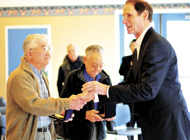 Hood River Japanese American veterans honored by Sen. Ron Wyden for their service in World War II was one of the top stories of 2012.