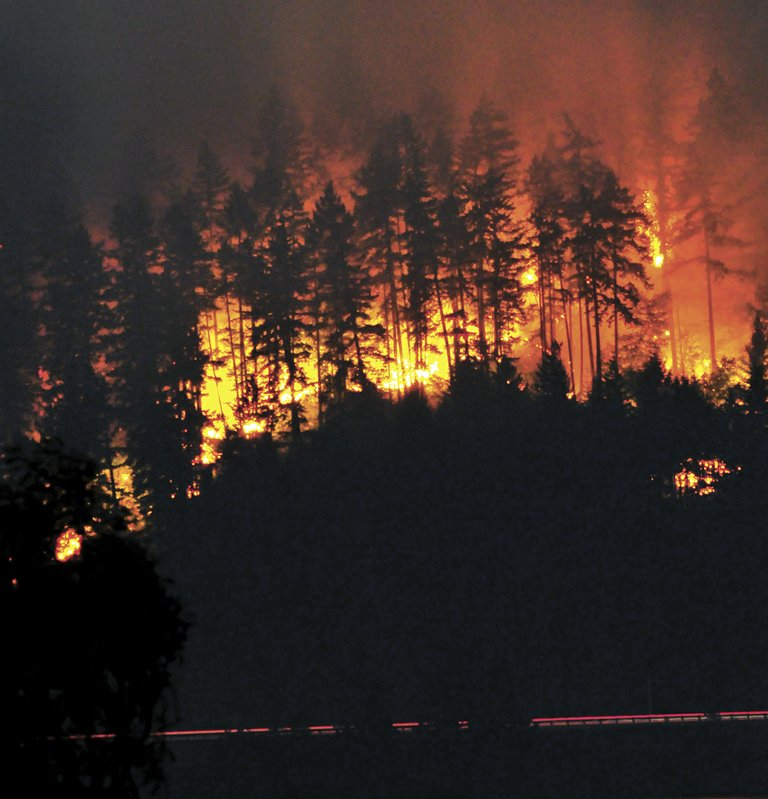 The Mile Post 66 fire consumed a large stretch of land between Hood River and Mosier.
