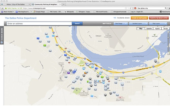 THEDALLES City Police Department has posted a new crime map that is being regularly updated so citizens will know what is happening in their neighborhoods.