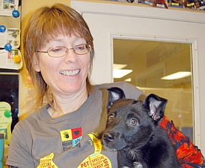 Dog deliverance is the business of Adopt a Dog's Linda Vanderberg.
