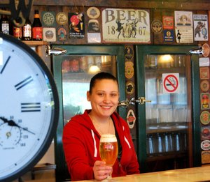 Shelley James, new co-owner of Cascade Locks Ale House, is happy to give a warm welcome to locals and visitors who come in from the cold; just don't ask about the ghost who reportedly haunts the upstairs rooms, guaranteeing shivers of a different kind for winter diners.