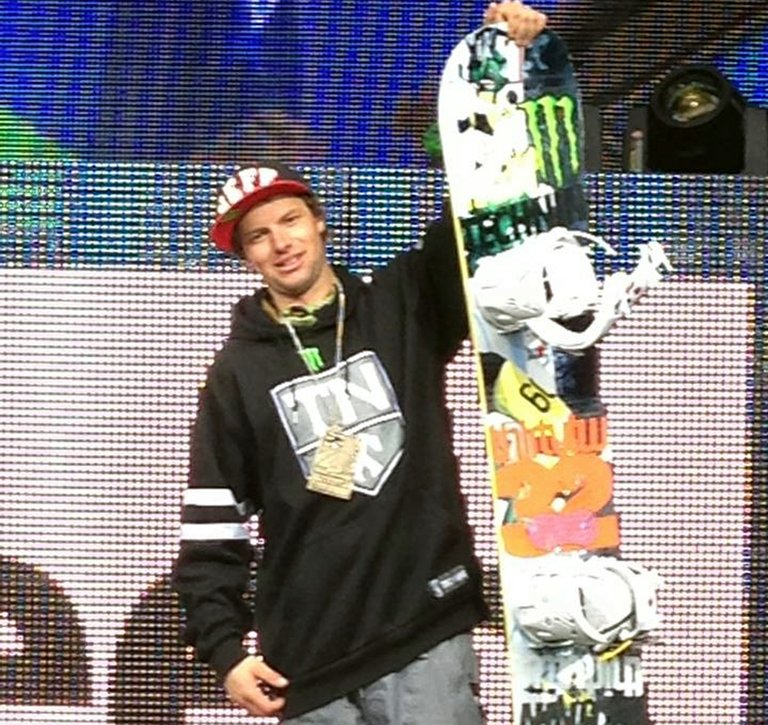 Dylan Thompson with his X Games bronze medal