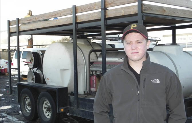 ALEX DEVLAEMINCK recently opened Tuff Wash, a mobile pressure-washing and steam-cleaning business in The Dalles.