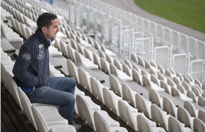 In this Nov. 5, 2012 photo, former Croatian soccer player Mario Cizmek is seen at a stadium in Zagreb. Cizmek was convicted of rigging games in Croatia's first division in 2010. At his trial and during interviews with the Associated Press he spoke of the unwritten rules of match-fixing.