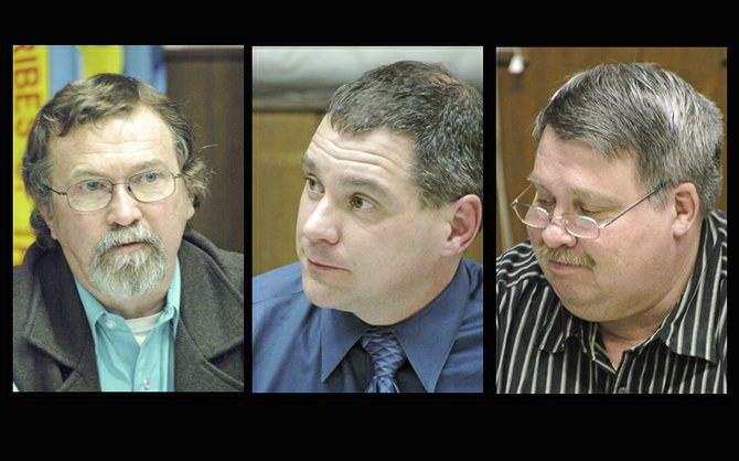 Cascade Locks city council appointees (from left to right) Richard Randall, Jeff Helfrich and Bobby Walker.