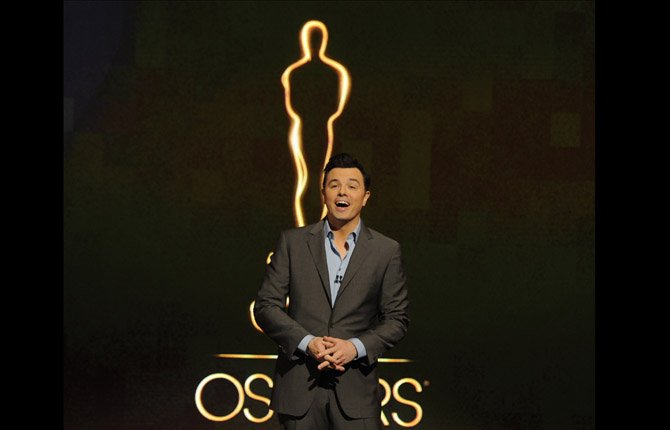 Oscar host Seth MacFarlane presents the Academy nominations for the 85th Academy Awards in Beverly Hills, Calif. 