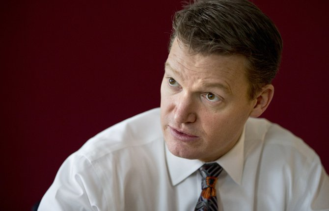 Mandiant founder and CEO Kevin Mandia is seen in his office in Alexandria, Va., Feb. 20. Mandiant, started in 2004 by Mandia, a private technology security firm described in extraordinary detail efforts it blamed on a Chinese military unit to hack into 141 businesses, mostly inside the U.S., and steal commercial secrets. China denies the claim. 
