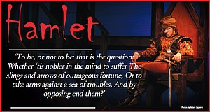 Duncan Krummel as Hamlet.