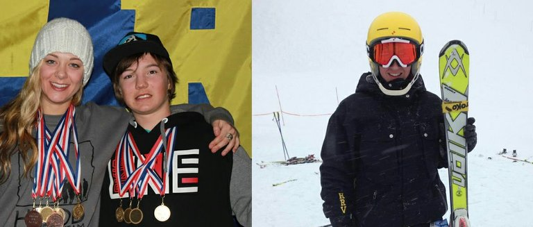 Kayla Van Hoose, Tucker FitzSimons and Korey Cimock all have plenty of reason to smile. All three won OISRA state skiing championships. Van Hoose and FitzSimons took first in every discipline in the freestyle championships while Cimock won the girls combined downhill title.