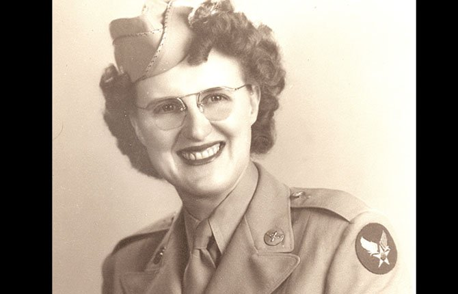 LENORE WALTERS is shown circa World War II.