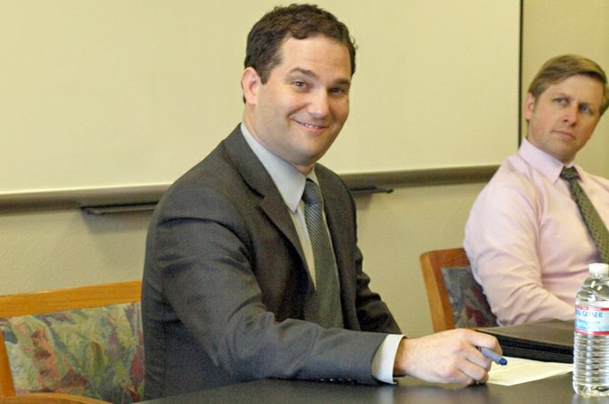 Dan Goldman, currently the director of instruction and elementary education with the Tigard-Tualatin School District, has been selected by the Hood River County School District to become superintendent effective July 1, 2013. With him is HRCSD Human Resources Director Kevin Noreen.