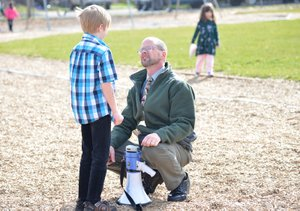 Principal Kelly Beard takes a hands-on, heart-on approach to guiding his May Street Elementary students.