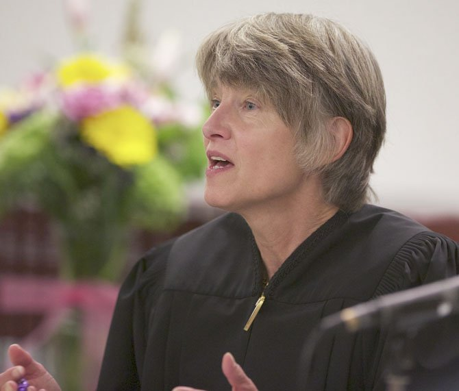 JUSTICE Martha Lee Walters asks a question March 14 during death penalty arguments related to inmate